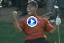 Este chip de Tiger en Augusta dio la vuelta al mundo, era el golpe imposible (VÍDEO)