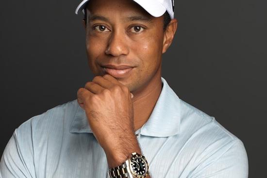 Imagen de Tiger Woods en la web de Rolex