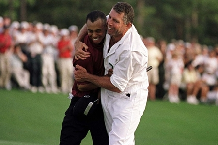 Tiger Woods y Steve Williams Foto All Sport