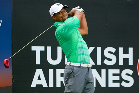 Tiger Woods durante el Turkish Airlines Open