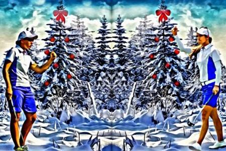 Azahara Muñoz y Carlota Ciganda Navidad 3