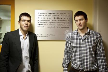Javier y Miguel Ballesteros. Foto: CNIO