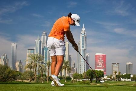 Carlota Ciganda en Dubai. Foto: LET