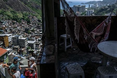 Favela de María Clara dos Santos en Rio de Janerio Foto: nytimes.com