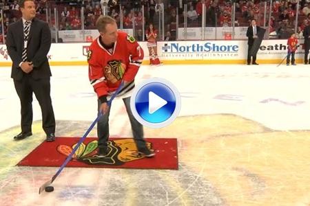 Luke Donald cambió el palo de golf por el stick de hockey… con peor resultado (VÍDEO)