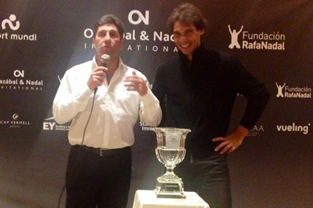 Rafa Nadal y Jose Mari Olazábal. Foto: Gonzalo Fdez.-Castaño vía Twitter