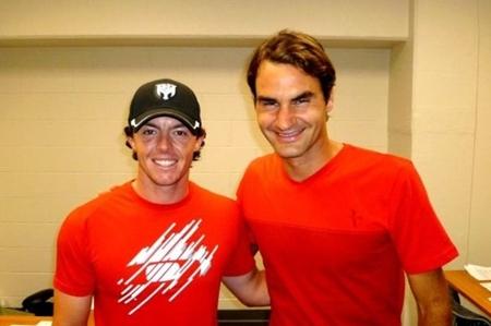 Rory McIlroy y Roger Federer en una foto de archivo