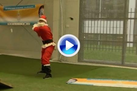 Un Santa Claus muy particular nos dejó unos Trick Shots como regalo (VÍDEO)