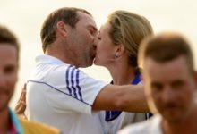 Sergio García y Katharina Boehm: Amor a pie de green