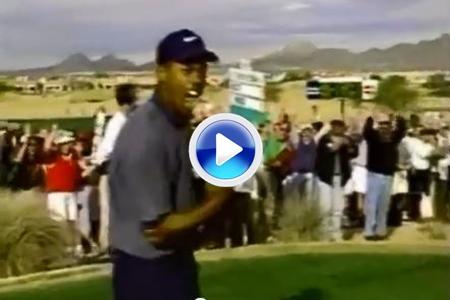 Histórico hoyo en uno de Tiger. Ocurrió en el gran anfiteatro de Scottsdale en 1997 (VÍDEO)