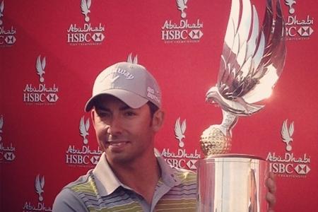 Pablo Larrazábal con el trofeo conquistado. Foto: European Tour