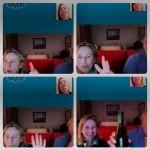 Belén Mozo, se tomó las uvas con la familia a través de Skype