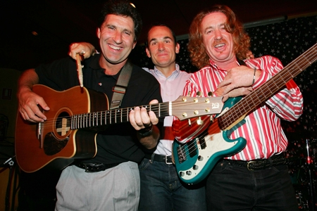 Jiménez junto a Olazábal y Garrido. Foto: Jorge Andréu