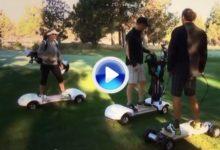 Olvida el buggie y »surfea» con el GolfBoard (VÍDEO)