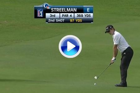 Eagle de Streelman tras embocar desde 88 metros su bola. Fue el golpe del día (VÍDEO)