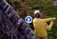 Este golpe de Jiménez contra el muro del 17 de St. Andrews es historia del Open. Sin palabras (VÍDEO)