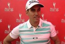 Rafa Cabrera-Bello (-5) toma el liderato en Abu Dhabi
