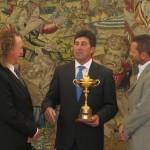 Recepción Real junto a Olazábal y García