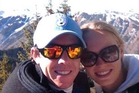 Rory McIlroy y Caroline Wozniacki en Aspen el pasado año