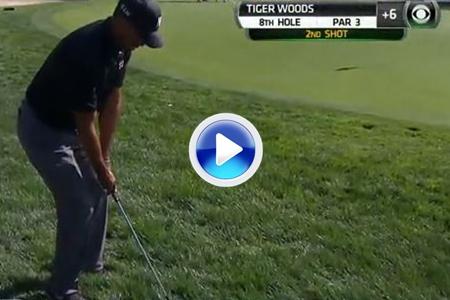 Luces y sombras de Tiger. Dos golpes que resumen la actuación del nº 1 en Torrey Pines (VÍDEO)