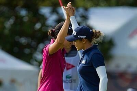 Carlota y Azahara se vuelven a lucir en el LPGA. Las españolas suman otro Top 10 en el Blue Bay China