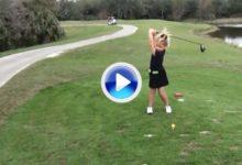 Bella Dovhey, la princesa golfista, tiene 6 años y un swing envidiable (VÍDEO)