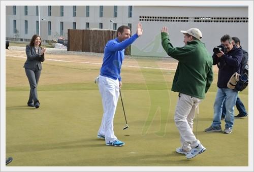 El estreno de la Escuela de Golf Elche, con Sergio García, en imágenes