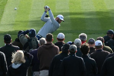 Dustin Johnson en Riviera Foto PGA Tour vía Twitter