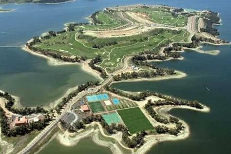 Vista aérea del complejo Isla de Valdecañas