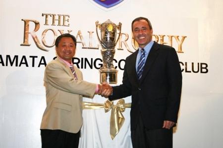 Seve Ballesteros en la primera edición del Royal Trophy