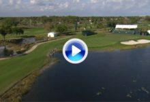 """La temida """"Trampa del Oso"""" de Nicklaus, sede del Honda de esta semana, a vista de pájaro (VÍDEO)"""