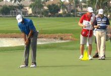 Tiger no atinó con el putt en el PGA National