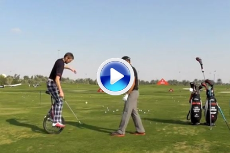 Rafa Cabrera-Bello tomó clases de Trick-Shots, divertido (VÍDEO)