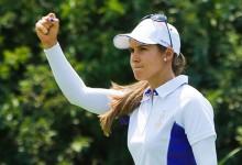 Lección de lucha de Azahara Muñoz para mantener el Top 10 en un LPGA Mediheal que domina Kim