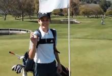 Un chaval de 14 años realiza dos hoyos en uno de forma consecutiva en competición