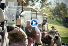 Un campo de golf se convierte en un campo de batalla (VÍDEO)