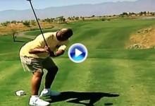 Charles Barkley, un gran jugador de la NBA con un pésimo, y hasta cómico, swing de golf (VÍDEO)