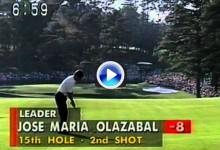 Este eagle fue clave en la victoria de Olazábal en el Masters de 1994 ¡qué tres tirazos! (VÍDEO)