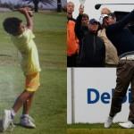 Pablo Larrazabal con 7 años jugando en El Prat Foto Pablo Larrazabal