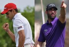 Rafa Cabrera-Bello y  Álvaro Quirós en el tee de salida del Puerto Rico Open (PREVIA)