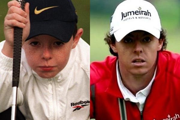 Rory McIlroy con 10 años en su Club, el Holywood Golf Club