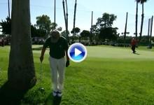 Tom Watson maravilló con este golpe de espaldas y a una sola mano en el Toshiba Open (VÍDEO)
