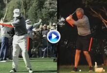 De tal palo tal astilla. Vea la comparativa del swing entre George HW Bush y su hijo George W. (VÍDEO)