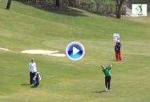Carlos del Moral dio el golpazo del día en el difícil y complicado 18 de La Reserva (VÍDEO)
