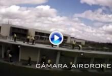 Hace dos años en el @twittourgolf ya se abatió un drone, vehículo aéreo no tripulado (VÍDEO)