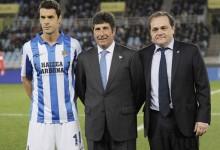 Chema Olazábal, pieza clave en la victoria de la Real Sociedad ante el RCD Español