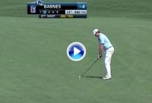 Rickie Barnes la dejó dada desde más de 250 metros, sin duda el golpe del día en el PGA Tour (VÍDEO)