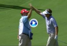Jason Bohn hizo fácil el eagle desde 86 metros, fue el golpe del día en el PGA Tour