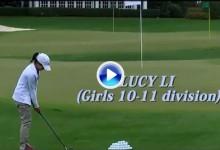 Asi ganaba Lucy Li (11 años) en Augusta y hace un año en la previa del US Women's Amateur (VÍDEO)