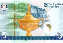 La Ryder Cup ya tiene su billete de 5 libras de curso legal conmemorando el evento